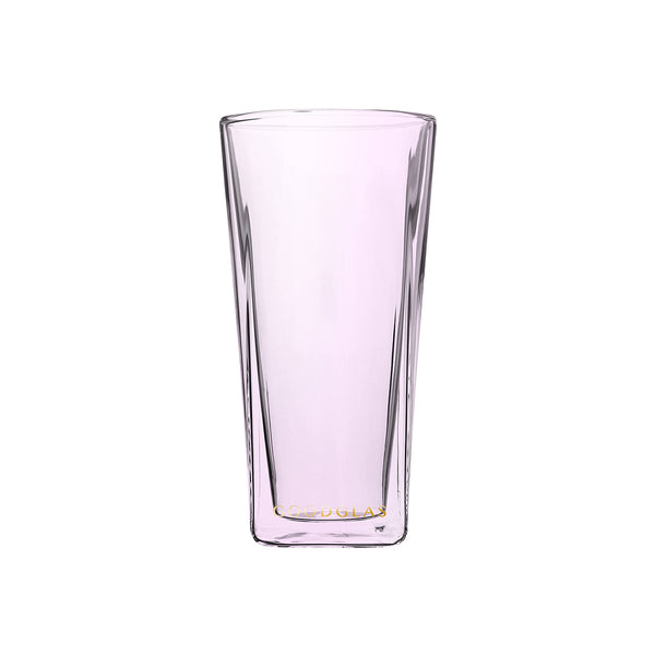 SQUARE雙層杯/櫻粉 SQUARE Double Wall Glass /Pink