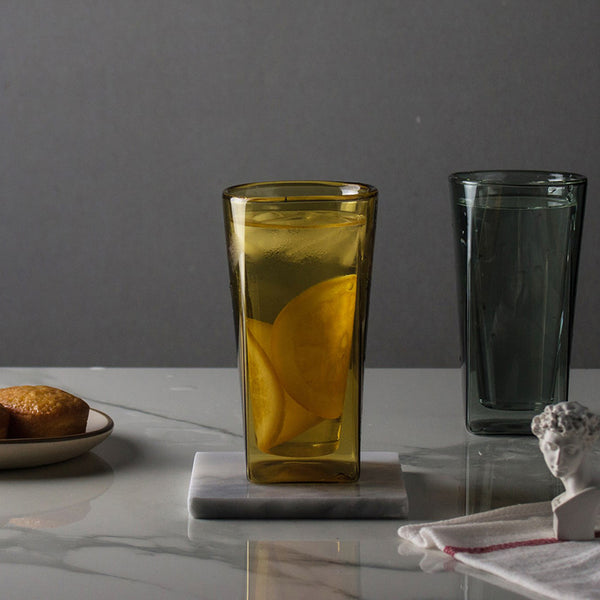 SQUARE雙層杯/黃珀 SQUARE Double Wall Glass /Yellow