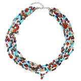 Multi-coloured gemstone necklace