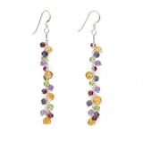 Multi-coloured gemstone earrings