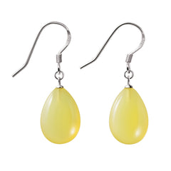 Yellow Opals and Silver Earrings