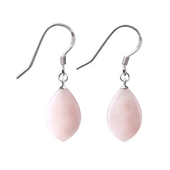 Pink Opal and 925 Sterling Silver Earrings