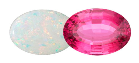October Birthstones - Opal and Tourmaline