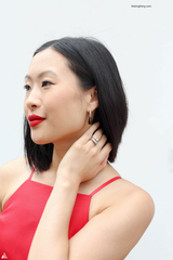 Ting wearing Franki Baker Smoky Quartz Earrings