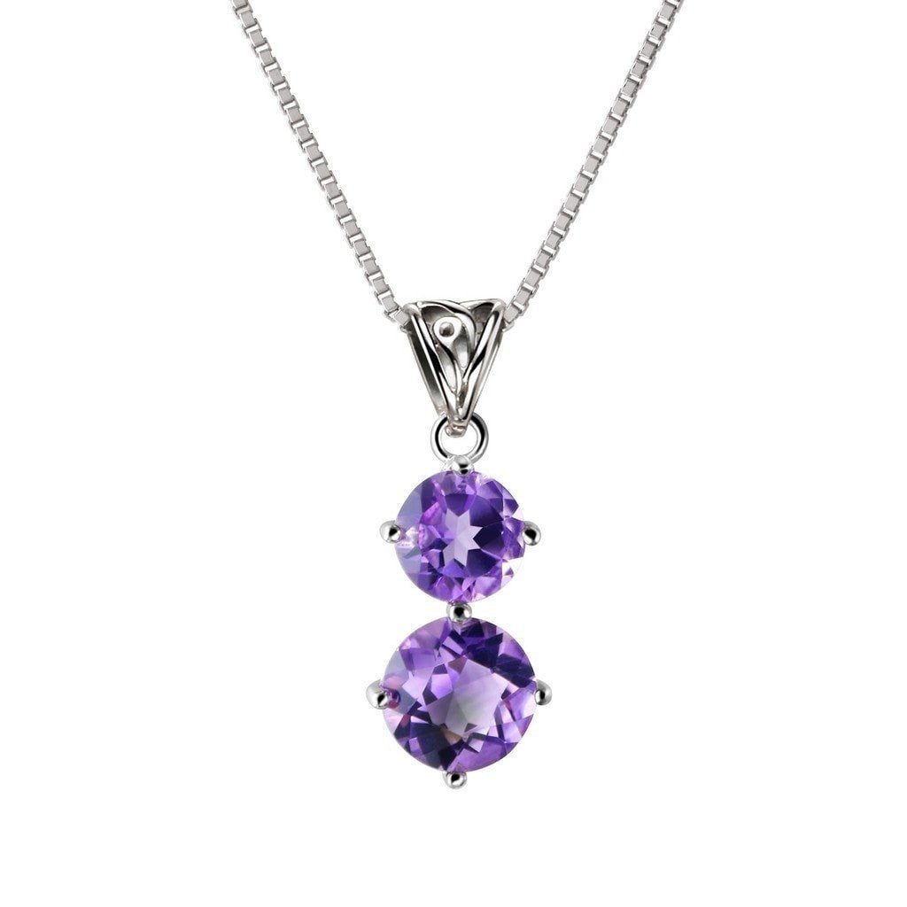 Amethyst and sterling silver pendant necklace and drop earrings amethyst and sterling silver pendant necklace and drop earrings jewellery set aloadofball Image collections