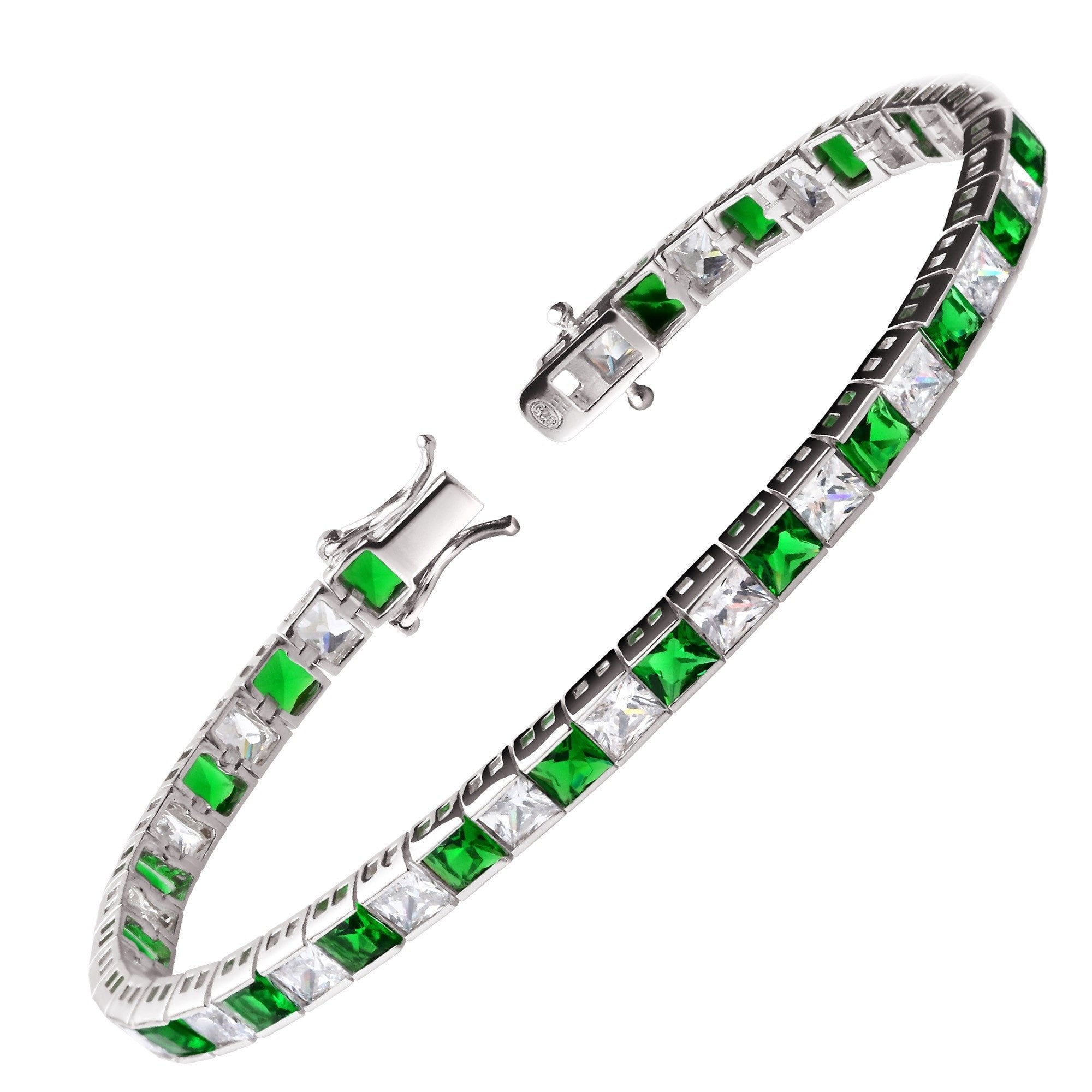 product emerald diamond tennis braceletemerald r gold bracelet fullxfull j braceletdiamond twisted modern il jewels