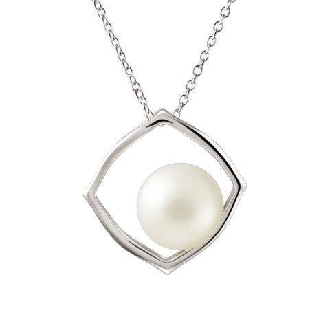 Pearl jewellery franki baker jewellery contemporary large white natural pearl pendant necklace sterling silver mozeypictures Image collections