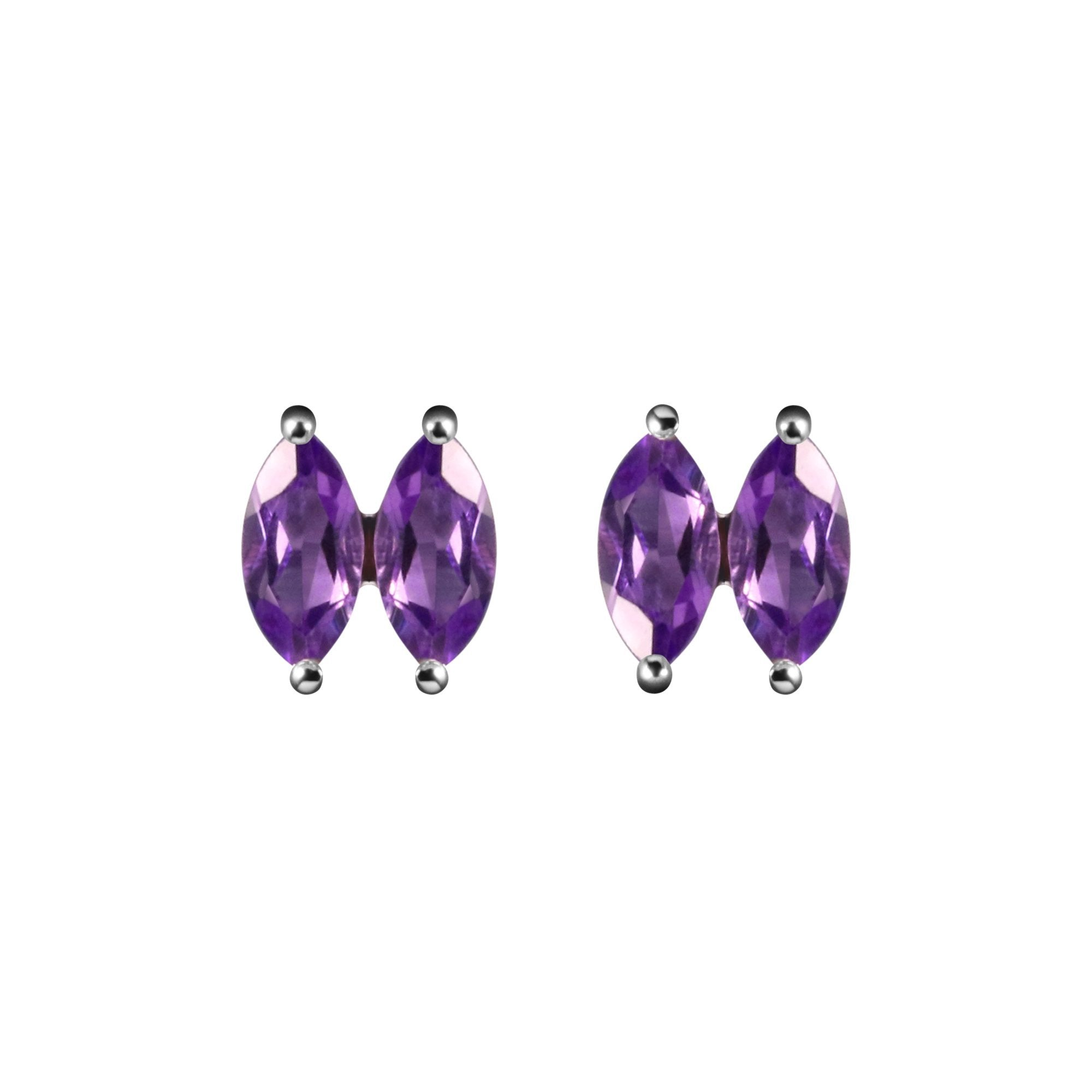 serafina brooke triple of gregson sapphire e marquise products earrings stud emerald copy
