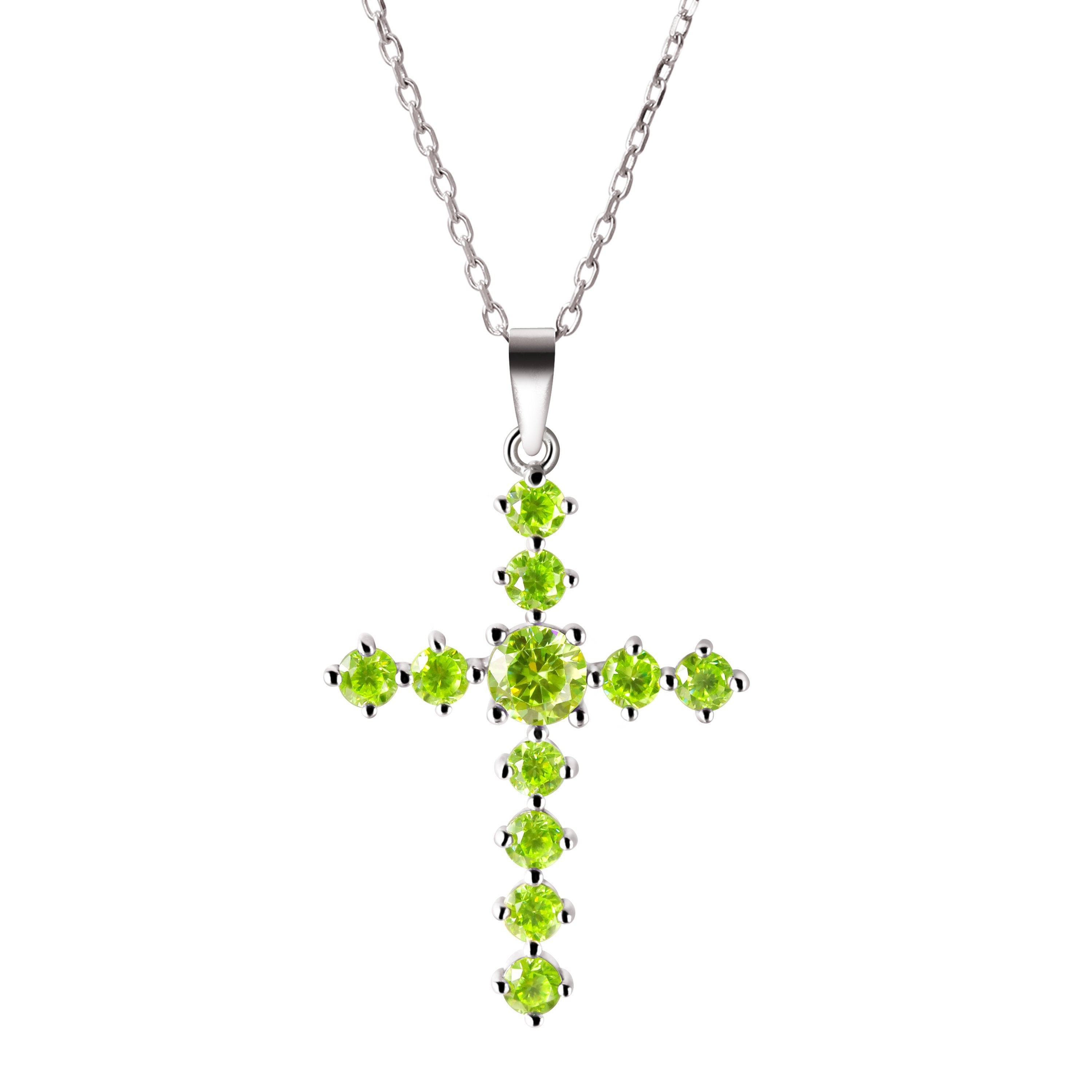 Franki baker dainty delicate peridot coloured crystal gemstone franki baker dainty delicate peridot coloured crystal gemstone sterling silver cross pendant necklace aloadofball Image collections