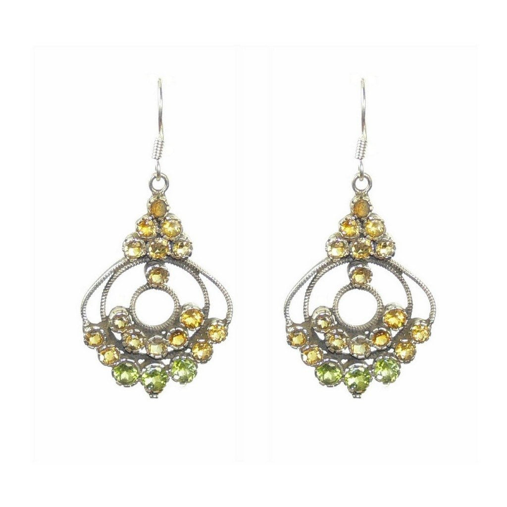 Peridot and citrine sterling silver chandelier earrings franki peridot and citrine sterling silver chandelier earrings aloadofball Choice Image