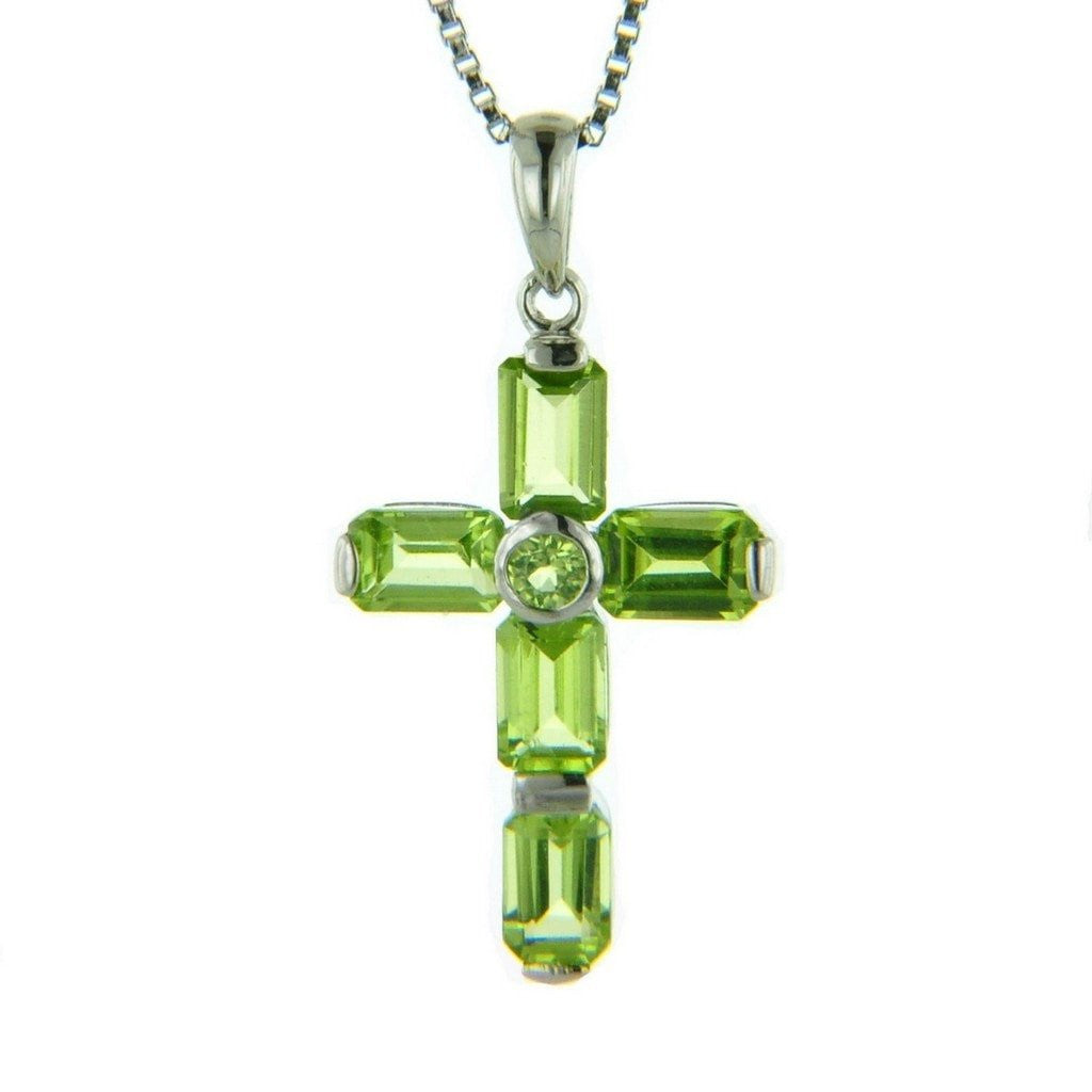 Peridot gemstone and sterling silver cross pendant aa grade gemstone peridot gemstone and sterling silver cross pendant aa grade gemstone aloadofball Gallery