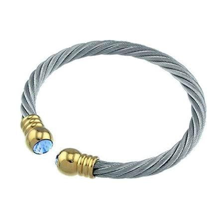 braided cable bangles high steel bracelet product jewelry popular quality gold stainless unisex fashion adjustable cuff