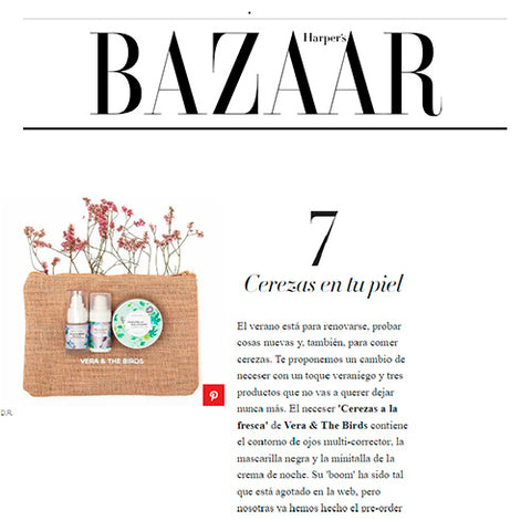 harper´s bazar vera and the birds