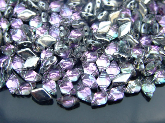 100g GemDuo Beads Backlit Pink Mist WHOLESALE-Michael's UK Jewellery