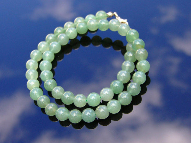 Aventurine Natural Gemstone Necklace 8mm Beaded 16-30inch-Michael's UK Jewellery