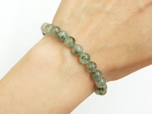 Actinolite Natural Gemstone Bracelet 6-9'' Elasticated-Gemstone Bracelets-Michael's UK Jewellery