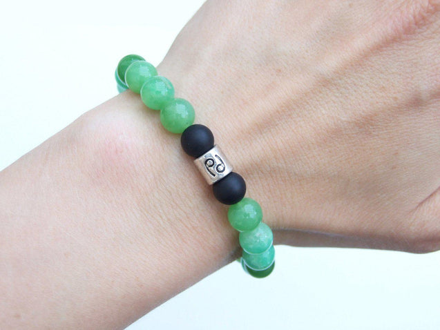 Cancer Chrysoprase Birthstone Bracelet 6-9'' Elasticated-Gemstone Bracelets-Michael's UK Jewellery