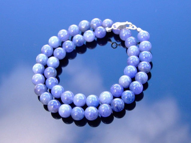 Tanzanite Natural Gemstone Necklace 8mm Beaded 16-30inch-Michael's UK Jewellery