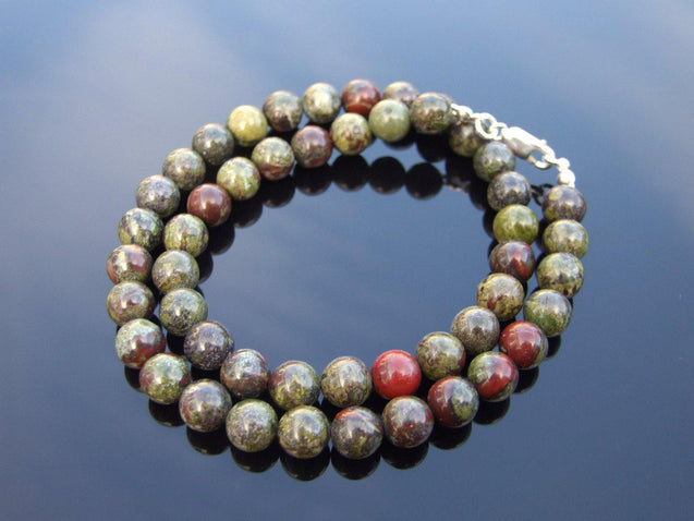 Bloodstone Natural Gemstone Necklace 8mm Beaded 16-30inch-Michael's UK Jewellery