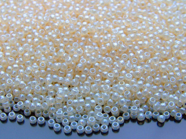 10g 147 Ceylon Light Ivory Toho Seed Beads 11/0 2.2mm-TOHO Glass Beads-Michael's UK Jewellery