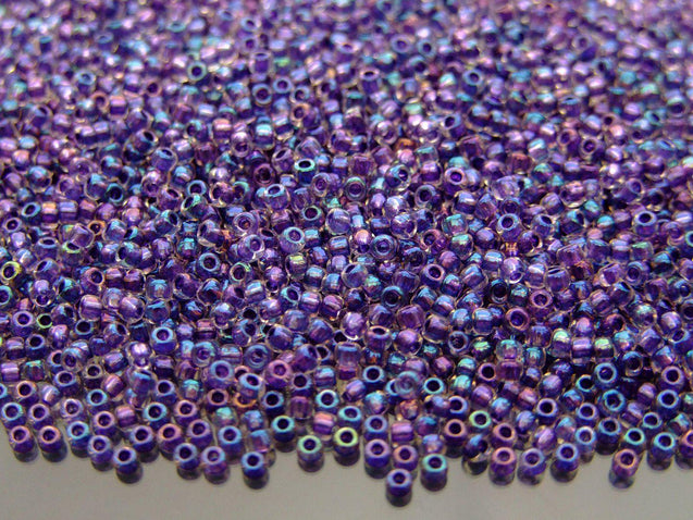 10g 181 Inside Color Crystal/Tanzanite Rainbow Toho Seed Beads 11/0 2.2mm-TOHO Glass Beads-Michael's UK Jewellery
