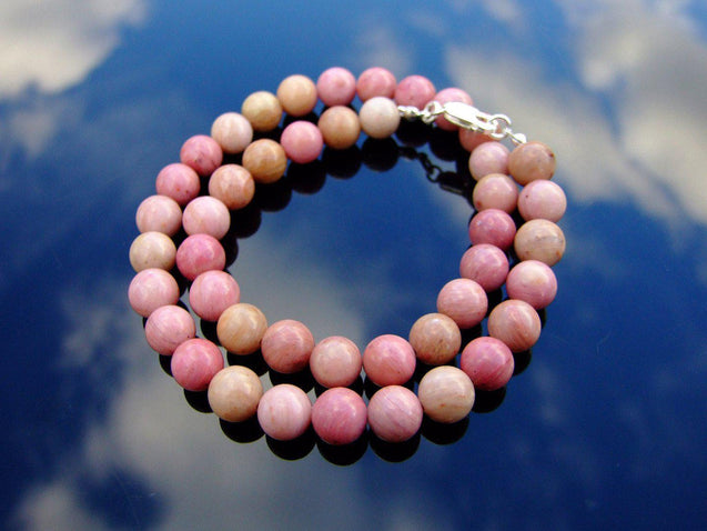 Rhodonite Natural Gemstone Necklace 8mm Beaded 16-30inch-Michael's UK Jewellery