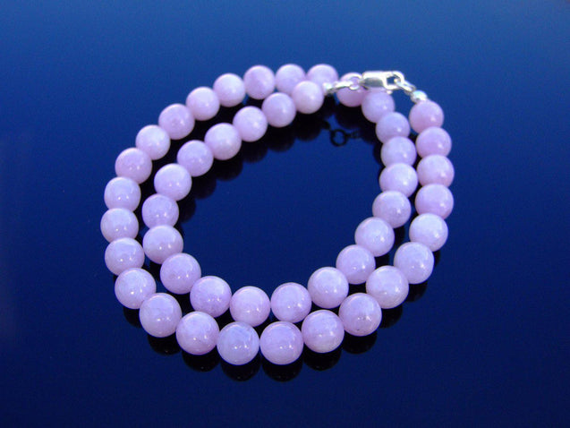 Kunzite Natural Gemstone Necklace 8mm Beaded 16-30inch-Michael's UK Jewellery