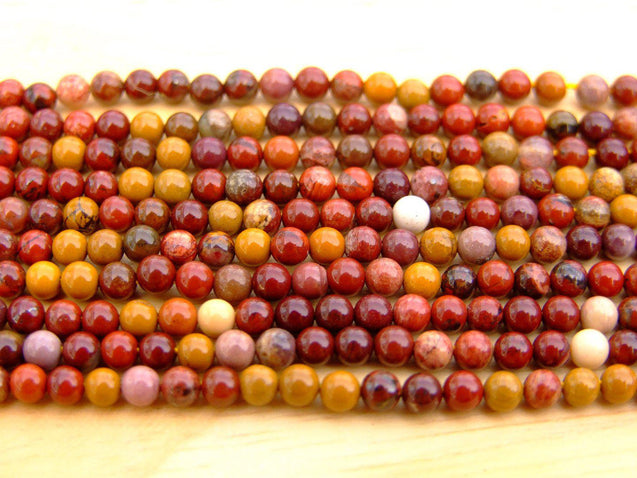 Mookaite Natural Gemstone Round Beads 3mm Strand (120+ Beads)-Gemstone Beads-Michael's UK Jewellery