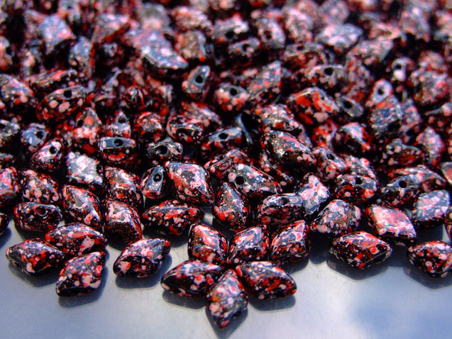 100g GemDuo Beads Jet Red Pink Confetti WHOLESALE-Michael's UK Jewellery