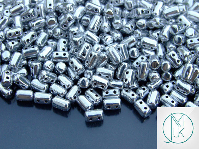 10g Rulla Beads Silver-Matubo Glass Beads-Michael's UK Jewellery