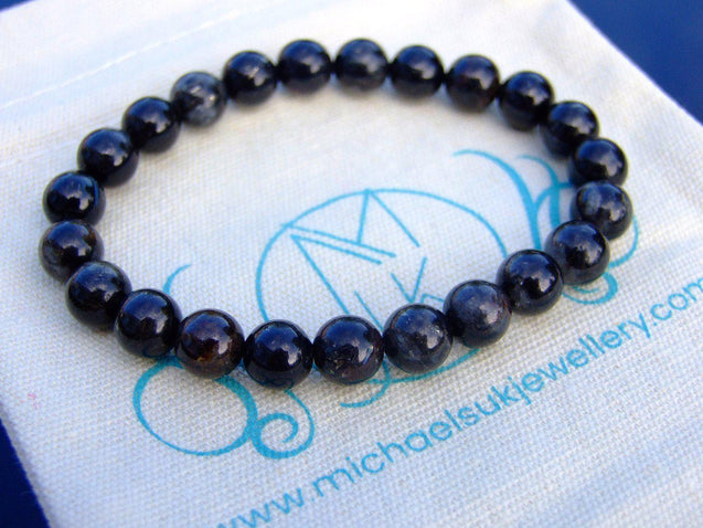 Astrophyllite Natural Gemstone Bracelet 6-9'' Elasticated-Gemstone Bracelets-Michael's UK Jewellery