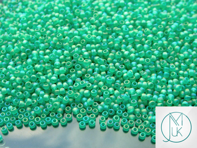 250g 164BF Transparent Frosted Dark Peridot Rainbow Toho Seed Beads 11/0 2.2mm WHOLESALE-Michael's UK Jewellery