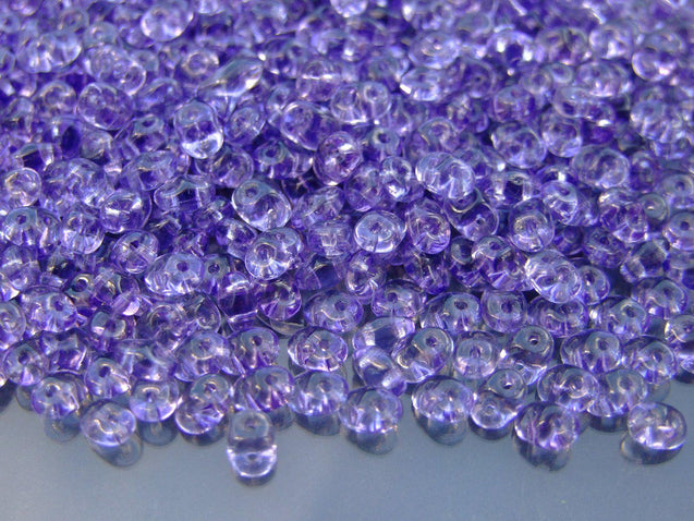 100g SuperDuo Beads Transparent Tanzanite WHOLESALE-Matubo Glass Beads-Michael's UK Jewellery