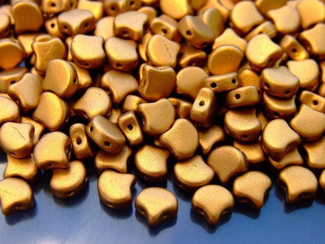 10g Ginko Duo Beads Matte Metallic Antique Gold-Michael's UK Jewellery