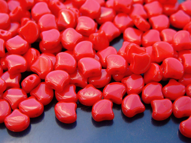 10g Ginko Duo Beads Opaque Red-Michael's UK Jewellery