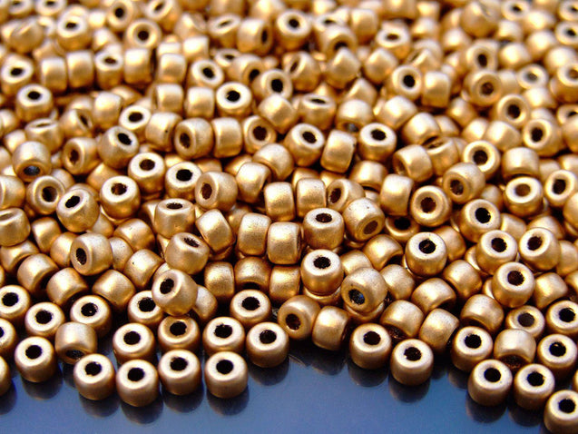 10g Matte Metallic Flax MATUBO Seed Beads 6/0 4mm-Matubo Glass Beads-Michael's UK Jewellery