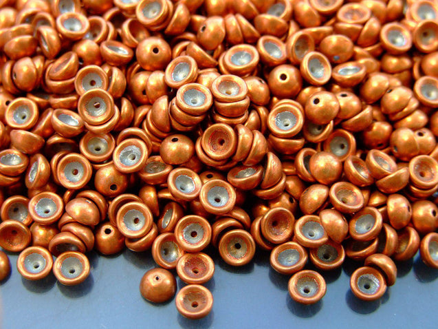 5g Teacup Beads 2x4mm Colortrends Saturated Metallic Russet Orange-Michael's UK Jewellery