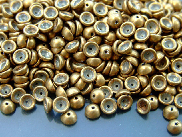 5g Teacup Beads 2x4mm Colortrends Saturated Metallic Ceylon Yellow-Michael's UK Jewellery