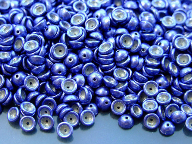 5g Teacup Beads 2x4mm Colortrends Saturated Metallic Ultra Violet-Michael's UK Jewellery