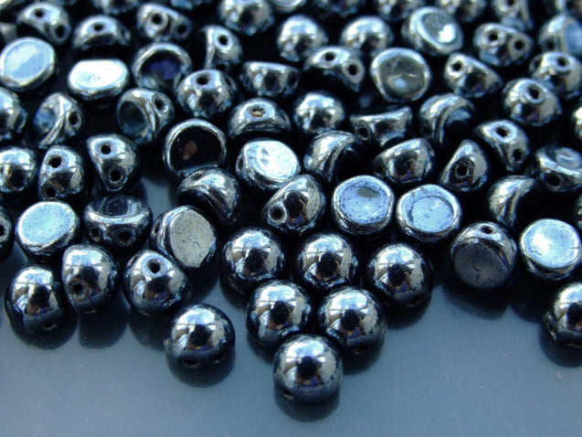 20x CzechMates Cabochon 7mm Hematite-Michael's UK Jewellery