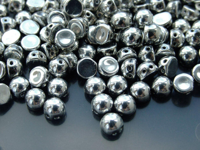 20x CzechMates Cabochon 7mm Silver-Michael's UK Jewellery