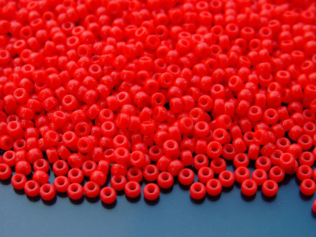 10g Opaque Red MATUBO Seed Beads 8/0 3mm-Matubo Glass Beads-Michael's UK Jewellery