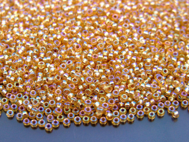 250g 91003 Silver Lined Gold AB Miyuki Seed Beads 11/0 2mm WHOLESALE-Michael's UK Jewellery