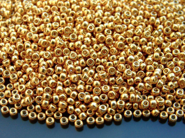 10g 91052 Galvanized Gold Miyuki Seed Beads 8/0 3mm-Michael's UK Jewellery