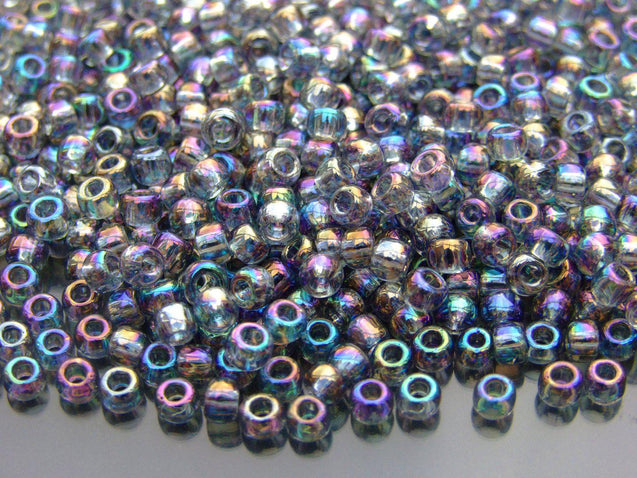 250g 176 Transparent Black Diamond Rainbow Toho Seed Beads 6/0 4mm WHOLESALE-Michael's UK Jewellery