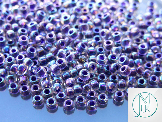 250g 181 Inside Color Crystal/Tanzanite Rainbow Toho Seed Beads 6/0 4mm WHOLESALE-Michael's UK Jewellery
