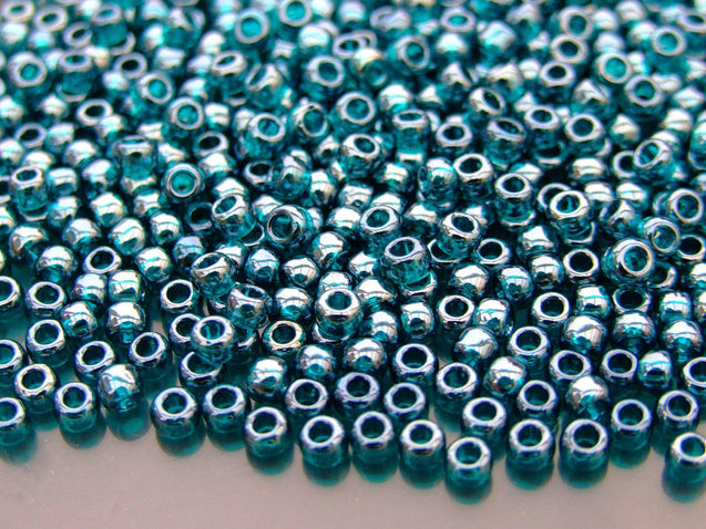 250g 108BD Trans Teal Luster Toho Seed Beads 6/0 4mm WHOLESALE-Michael's UK Jewellery