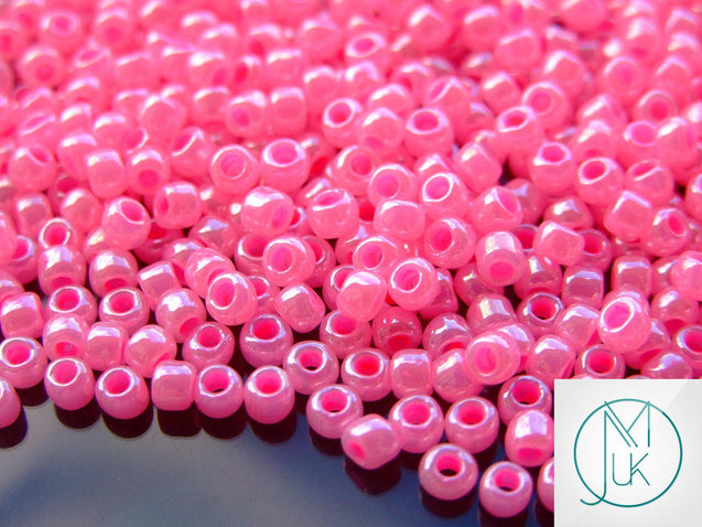 250g 910 Ceylon Hot Pink Toho Seed Beads 6/0 4mm WHOLESALE-Michael's UK Jewellery