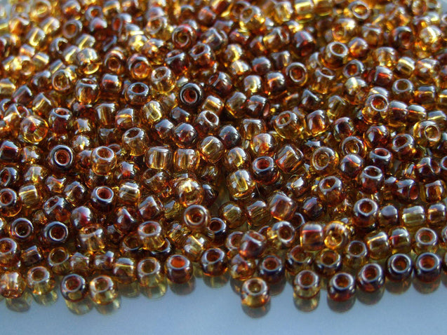 10g Y301 Hybrid Natural Picasso Toho Seed Beads Size 6/0 4mm-TOHO Glass Beads-Michael's UK Jewellery