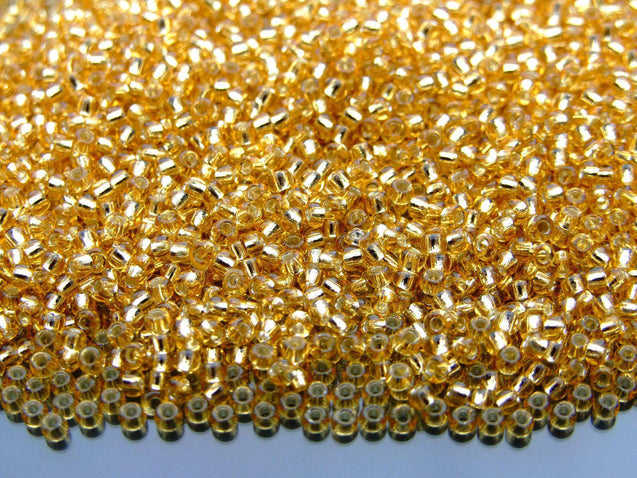 250g 22 Silver Lined Light Topaz Toho Seed Beads 11/0 2.2mm WHOLESALE-Michael's UK Jewellery